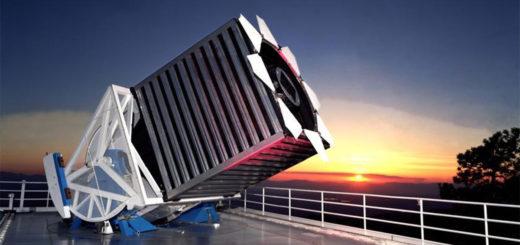 El telescopio usado en la Sloan Digital Sky Survey. Crédito: Sloan Digital Sky Survey.