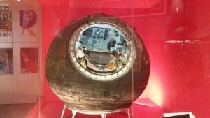 La cápsula de la nave Vostok 6 en el Museo de Ciencia de Londres. Crédito: Wikipedia Commons/Andrew Grey