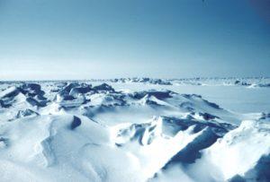 Crestas heladas en el mar de Beaufort, en la costa norte de Alaska. Crédito: Wikimedia Commons/Lusilier