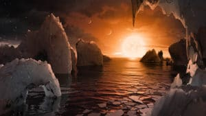 ¿Hay agua en TRAPPIST-1?