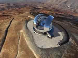 Concepto artístico del Telescopio Extremadamente Grande.