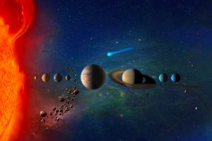 Concepto artístico del Sistema Solar.