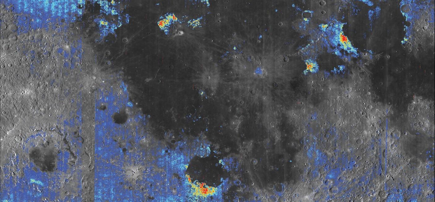 El agua en la Luna podría ser abundante