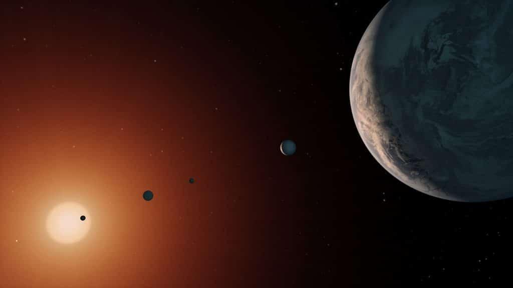 Analizan las órbitas de los planetas de TRAPPIST-1