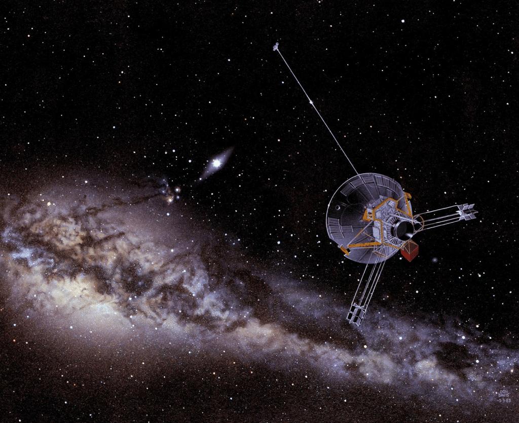 Voyager 1 capta un zumbido en el plasma interestelar