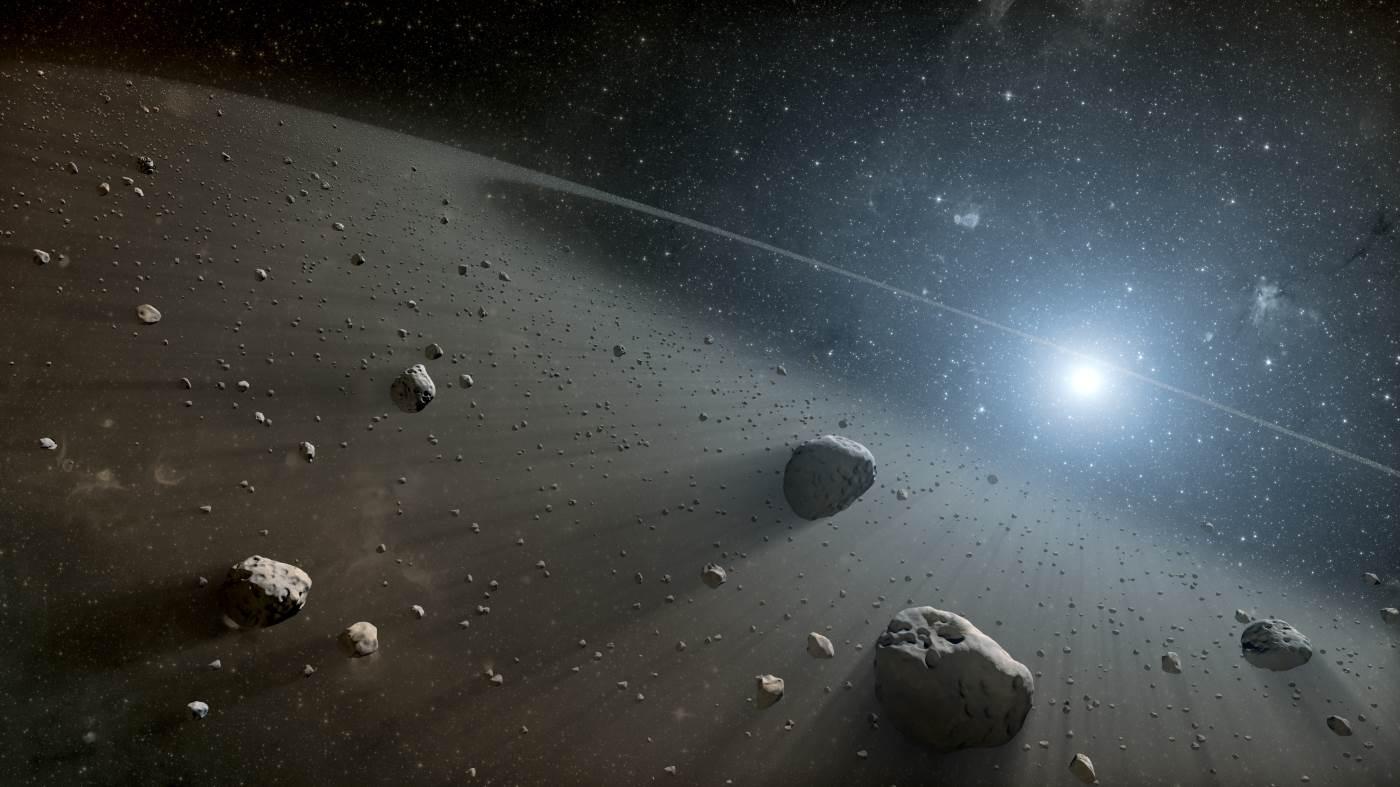 Una lluvia de asteroides afectó a la Tierra en el pasado