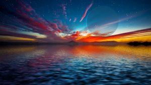 Concepto artístico de un mundo oceánico. Los mundos oceánicos podrían ser los planetas, habitables, más abundantes.