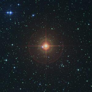 El entorno de W Hydrae, visto en luz visible.
