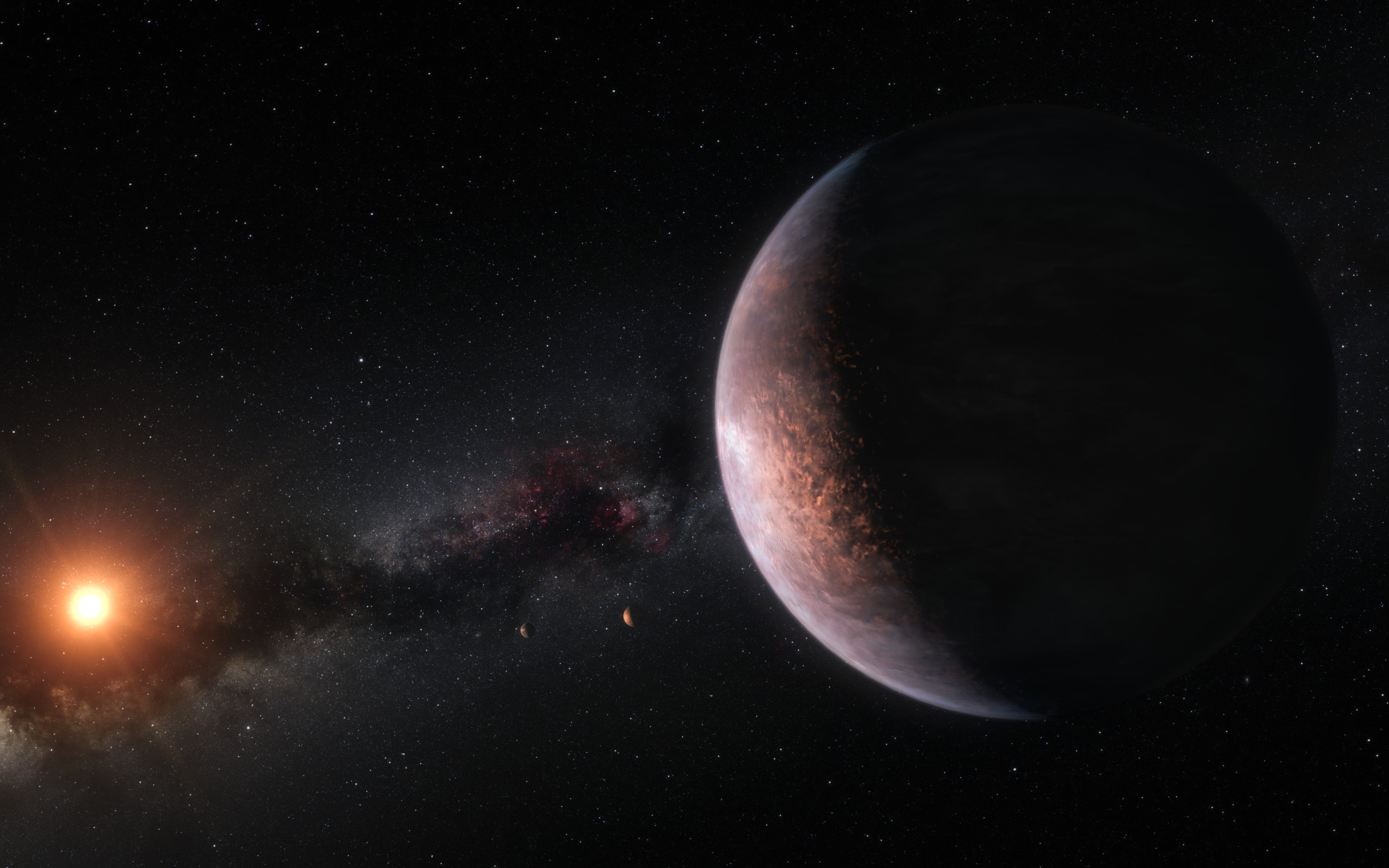 Los planetas de TRAPPIST-1 podrían tener demasiada agua