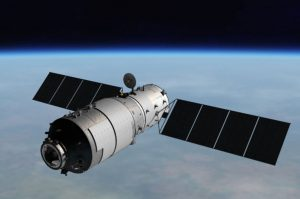 Este concepto artístico muestra la estación Tiangong-1 en el espacio.