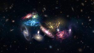Detectan la fusión de 14 galaxias en el inicio del universo