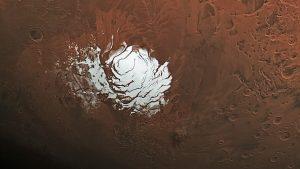Descubren un lago de agua salada en Marte