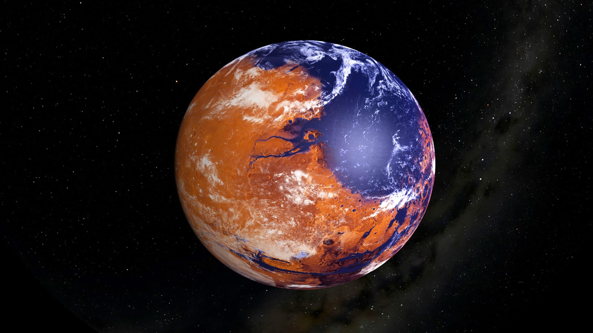 Indicios de agua en Marte hace 4400 millones de años