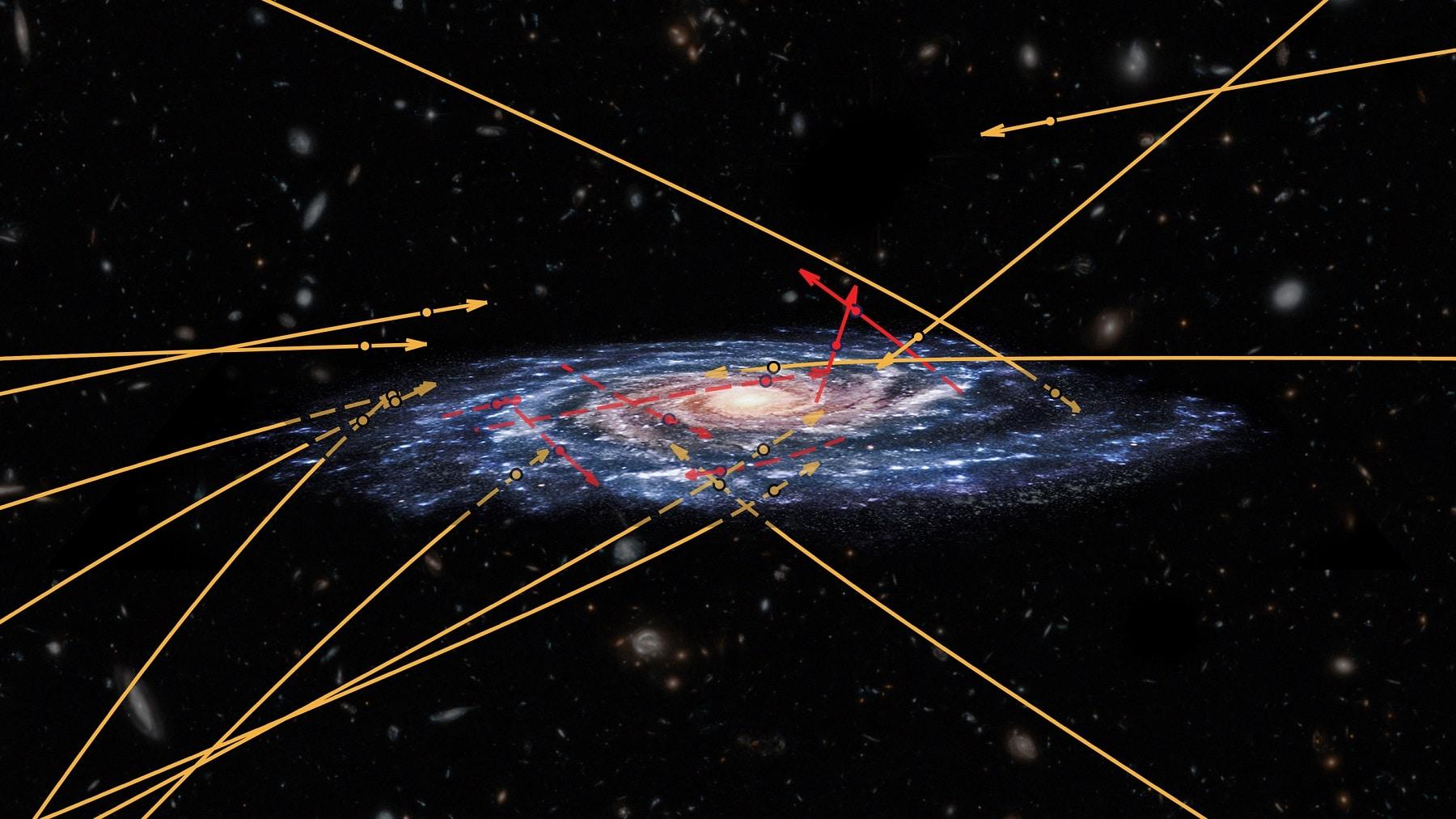 GAIA detecta estrellas viajando hacia la Vía Láctea
