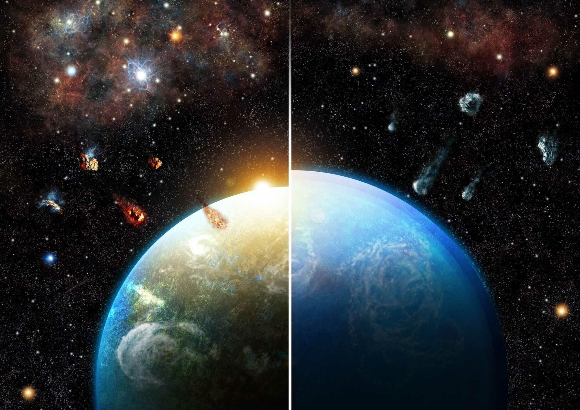 La formación de los planetas oceánicos