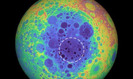 Descubren una estructura metálica bajo la Luna