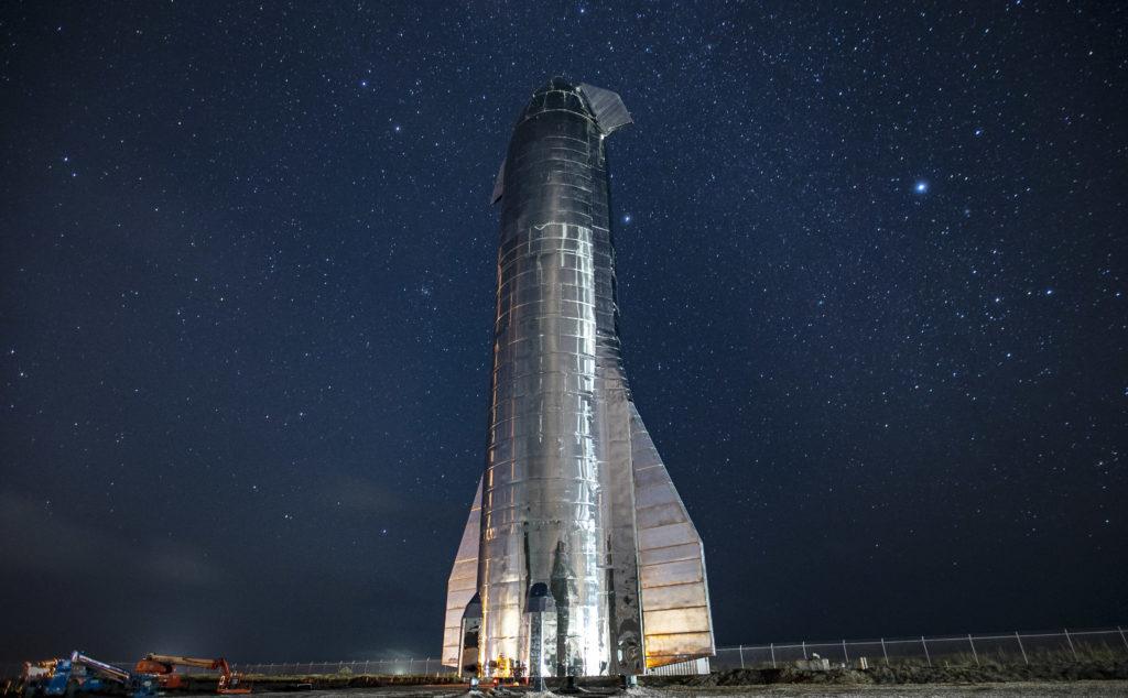 Starship MK1 ensamblado en las instalaciones de SpaceX en Texas