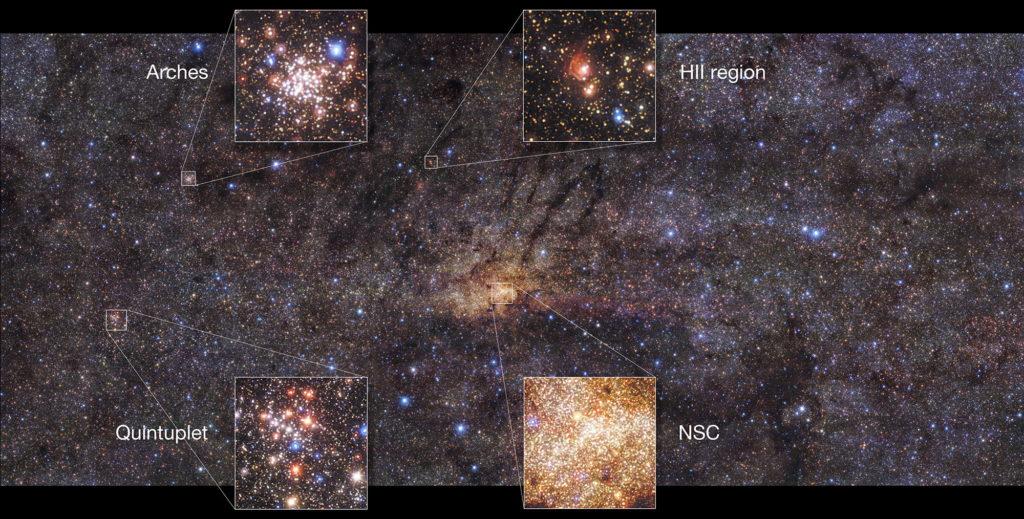 Observan un viejo brote estelar en el centro de la Vía Láctea
