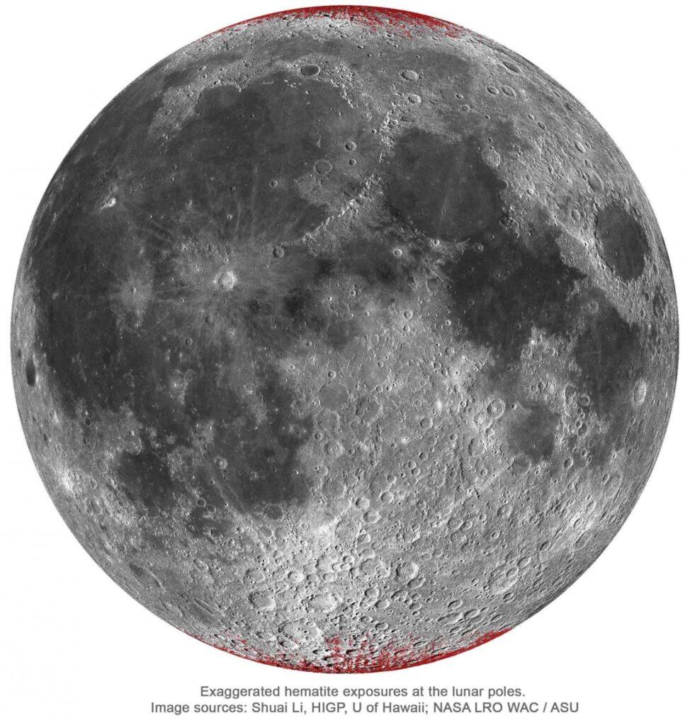 El oxígeno de la Tierra ha oxidado la Luna