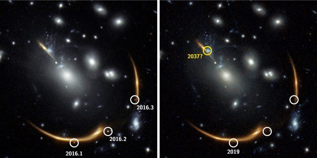 Una supernova se verá en 2037 por cuarta vez